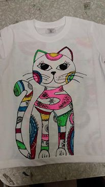 Malování na tričko barvami na textil Artemiss