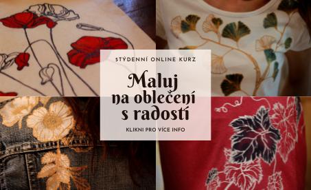 Pozvánka: 5týdenní online kurz Maluj na oblečení sradostí