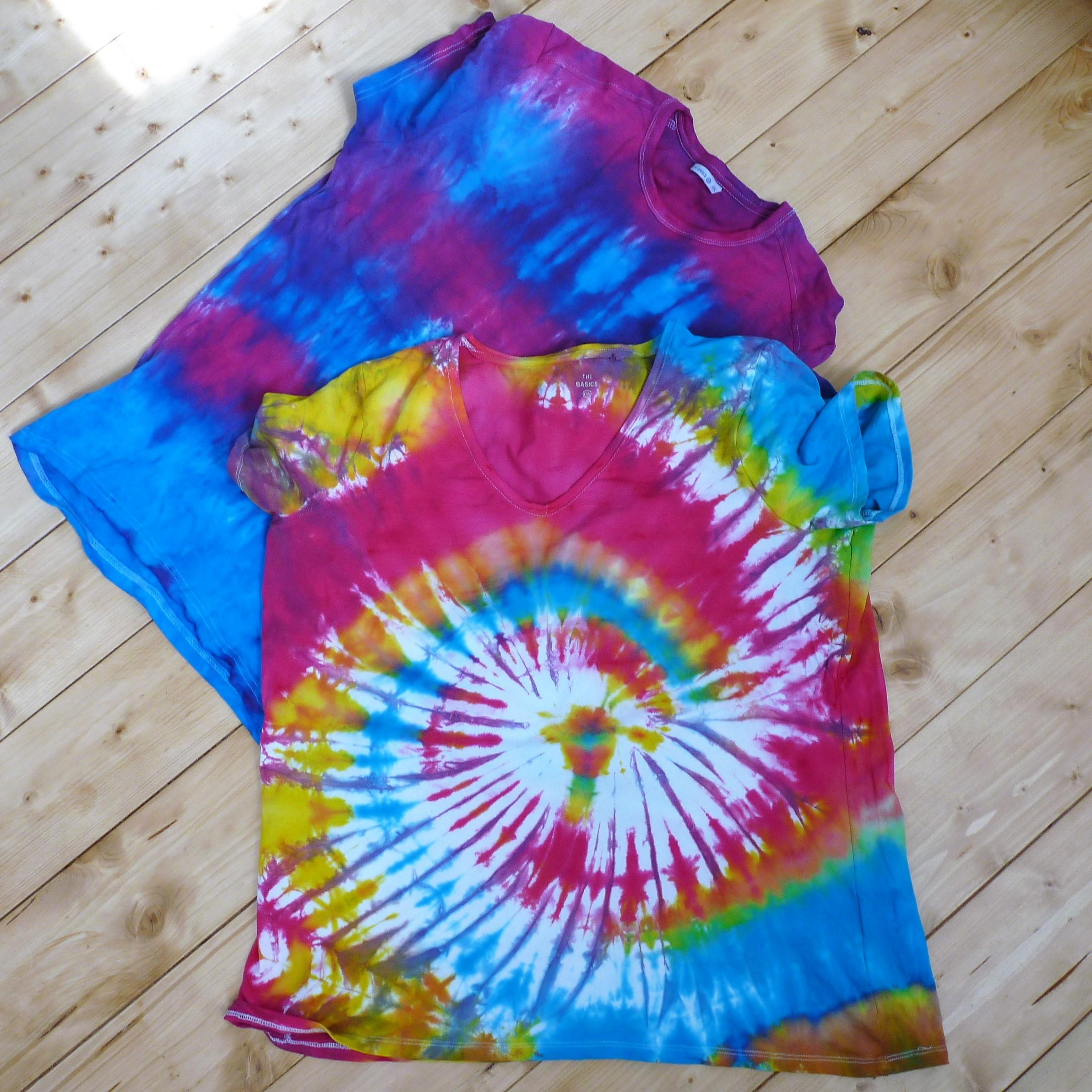 Batikovaná trička  - podrobný návod