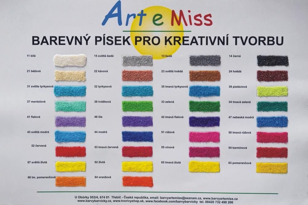 Vzorník barevných písků