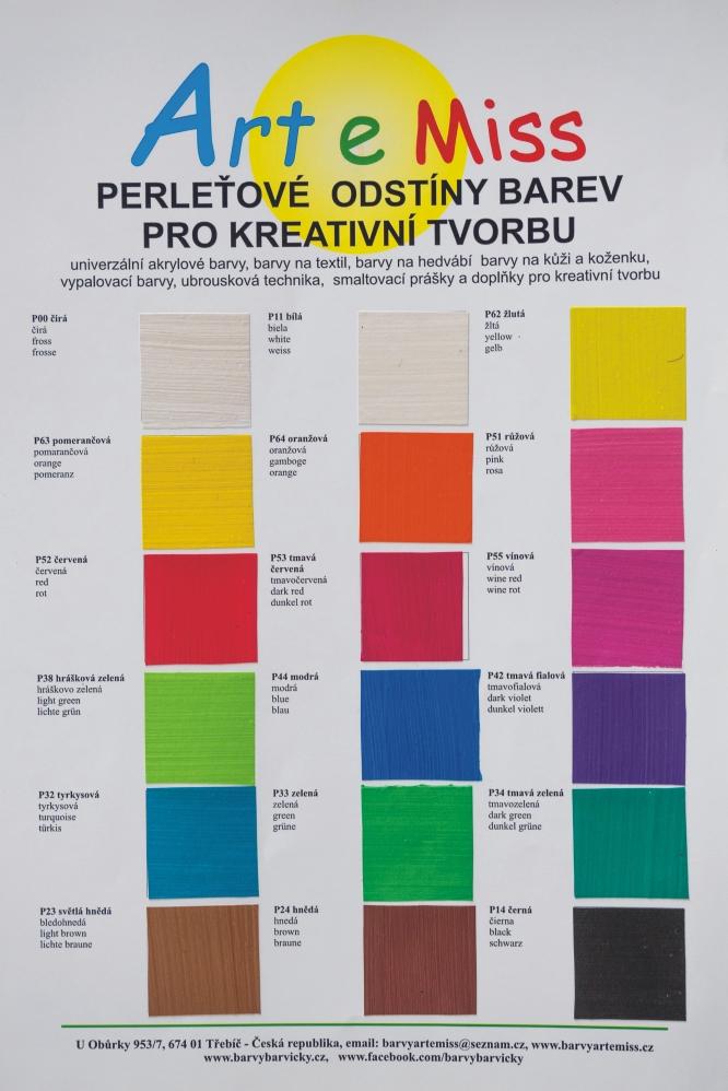Vzorník perleťové barvy