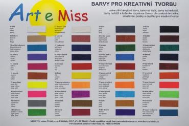 Hlavní vzorník barev