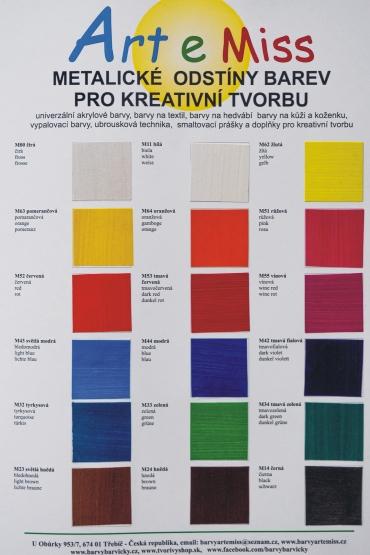 Vzorník metalické barvy