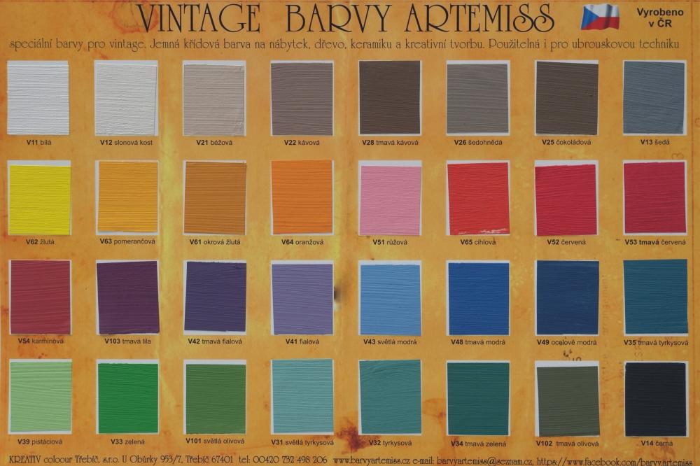 Vzorník vintage (křídových) barev