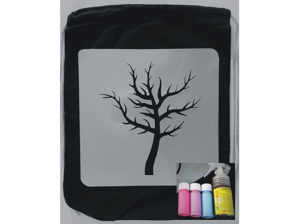 batoh strom růžová modrá fialová + sprej