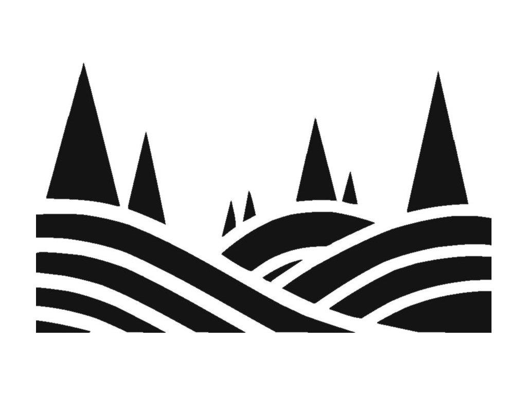 Krajina - plastová šablona 263