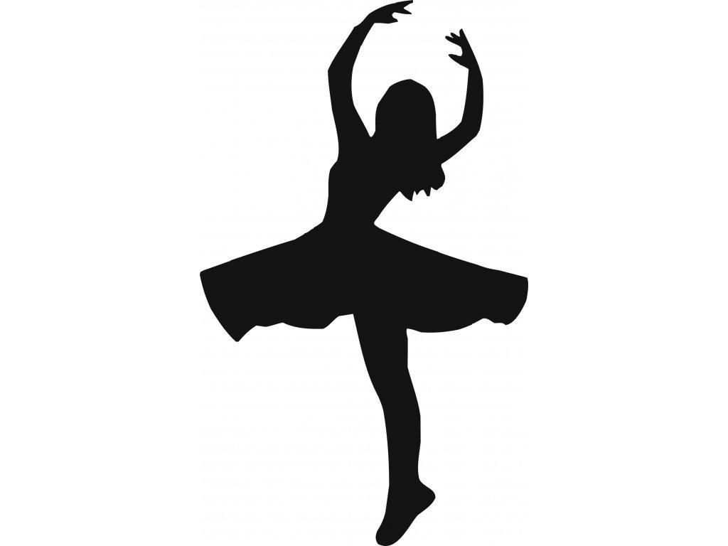 Baletka - plastová šablona 268