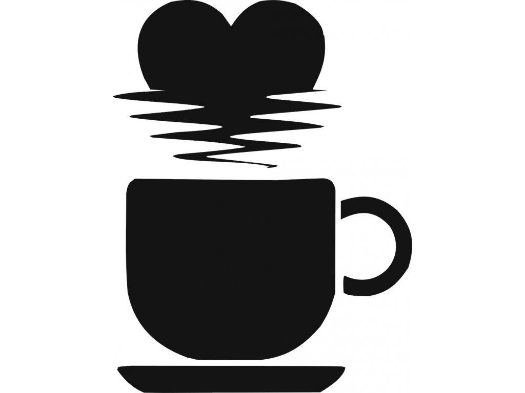 Šálek s kávou - plastová šablona 270