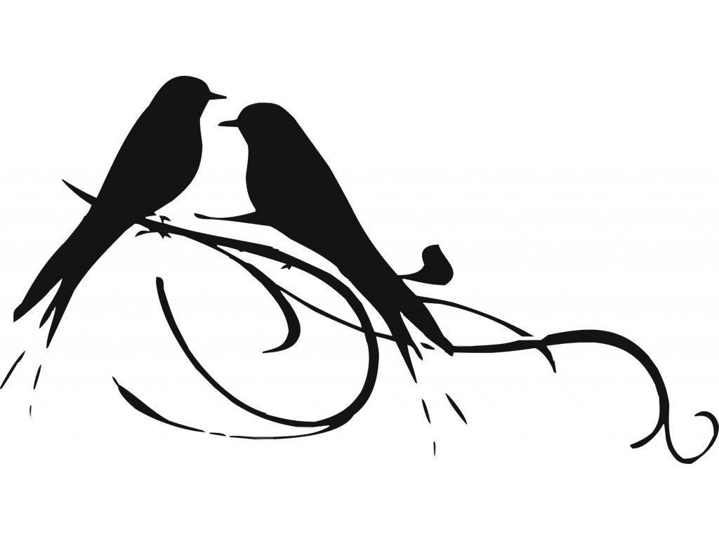 Ptáčci - plastová šablona 272