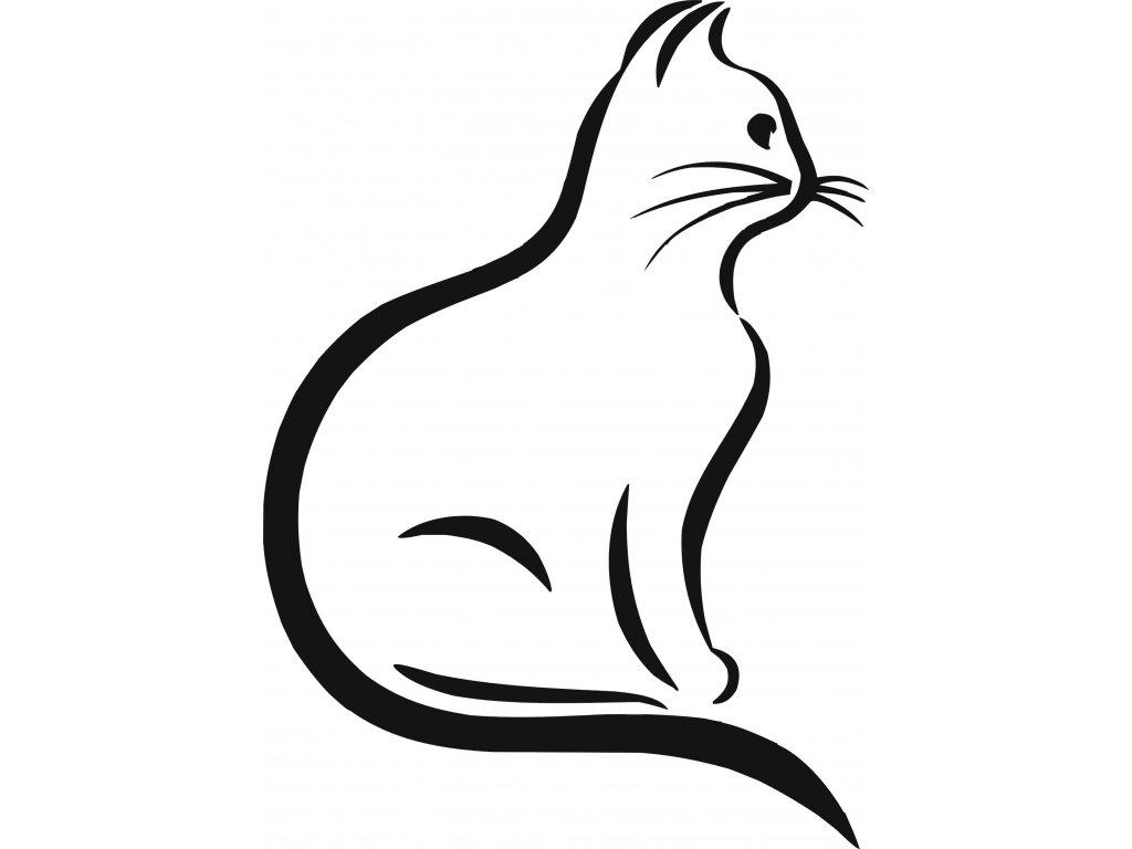 Kočka - plastová šablona 275