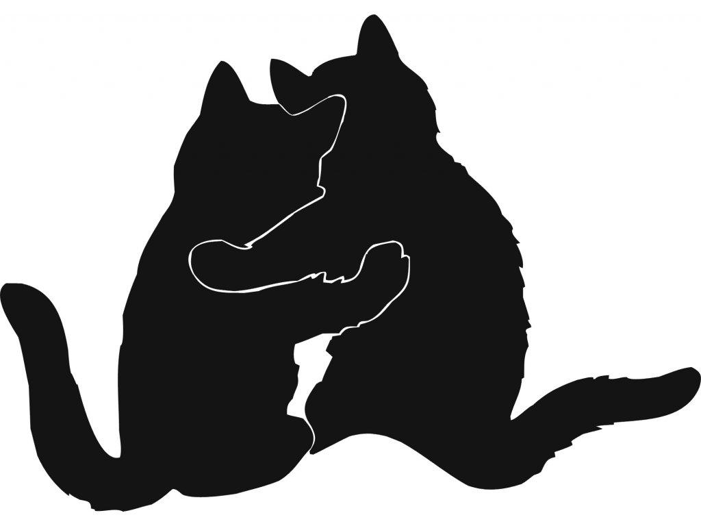 Kočky - plastová šablona 276