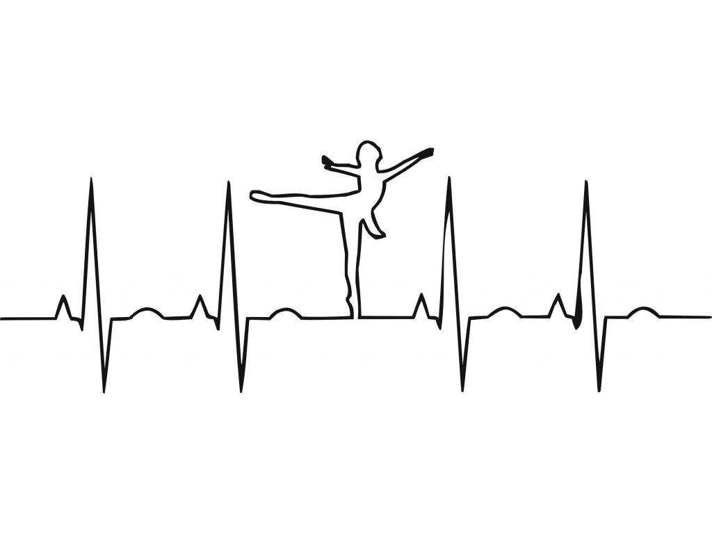Baletka EKG - plastová šablona 280