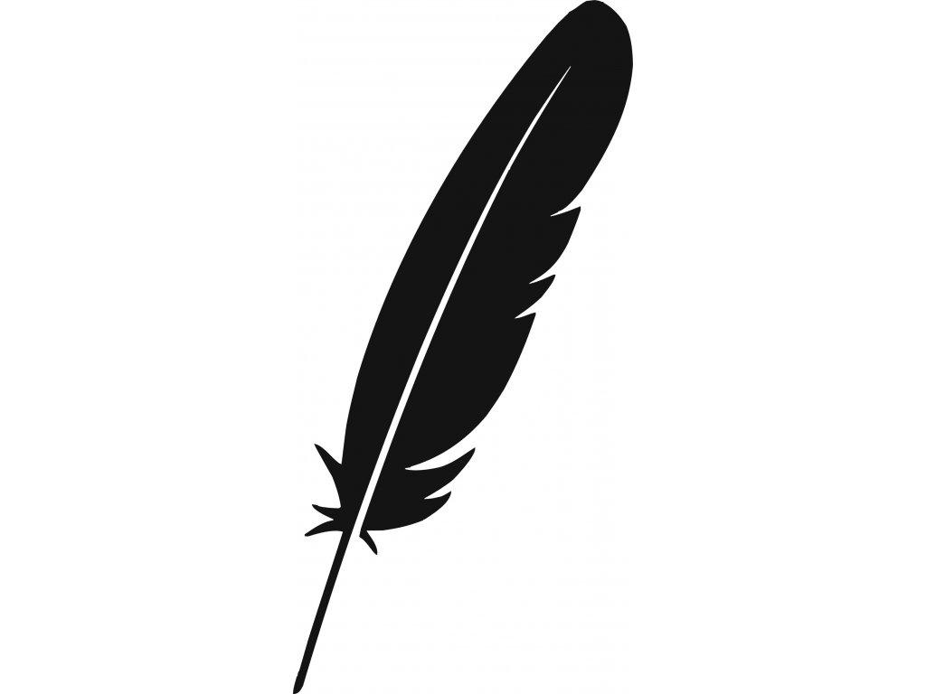 Ptačí brko - plastová šablona 286