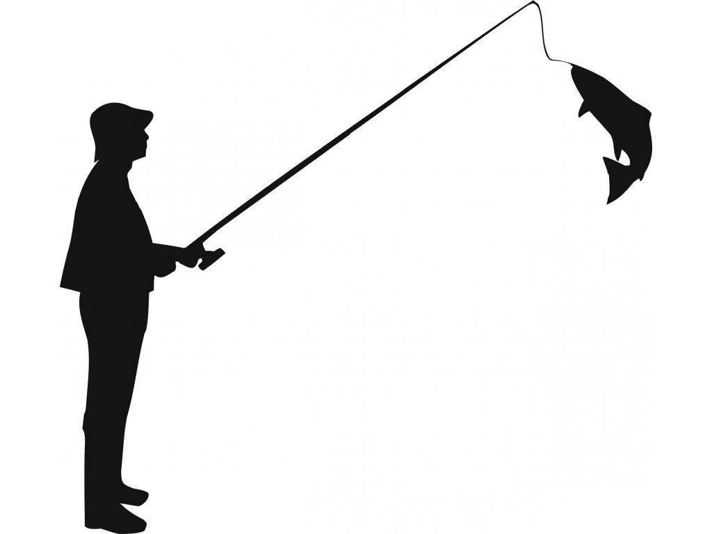 Rybář - plastová šablona 288