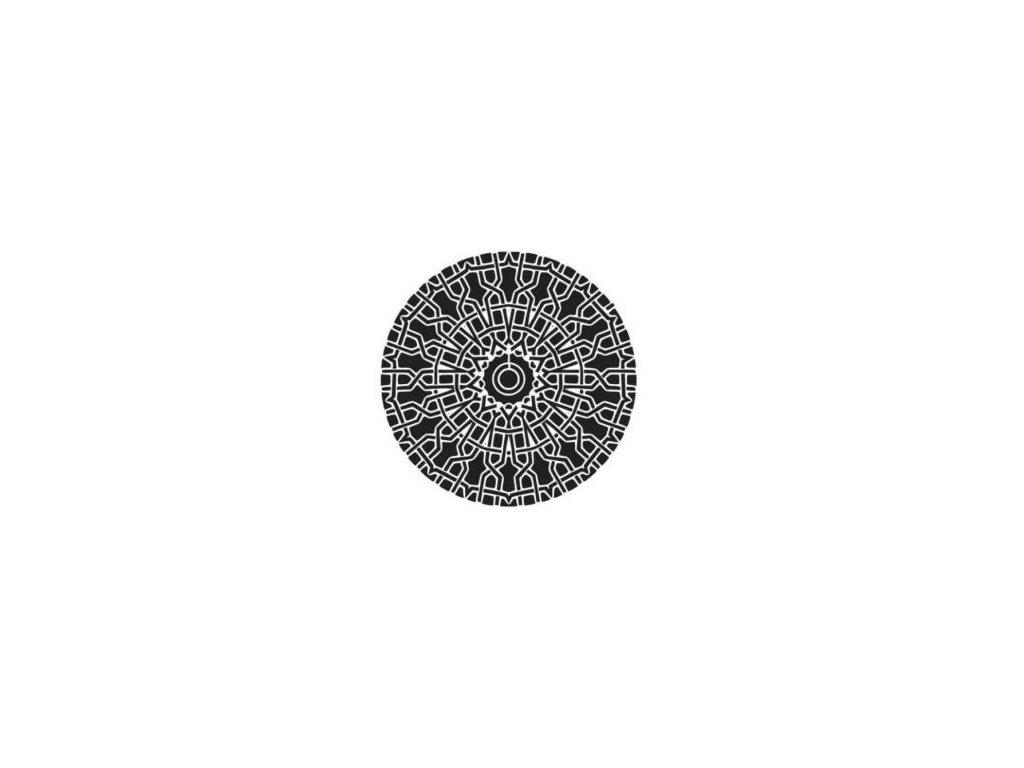 Mandala - plastová šablona 007