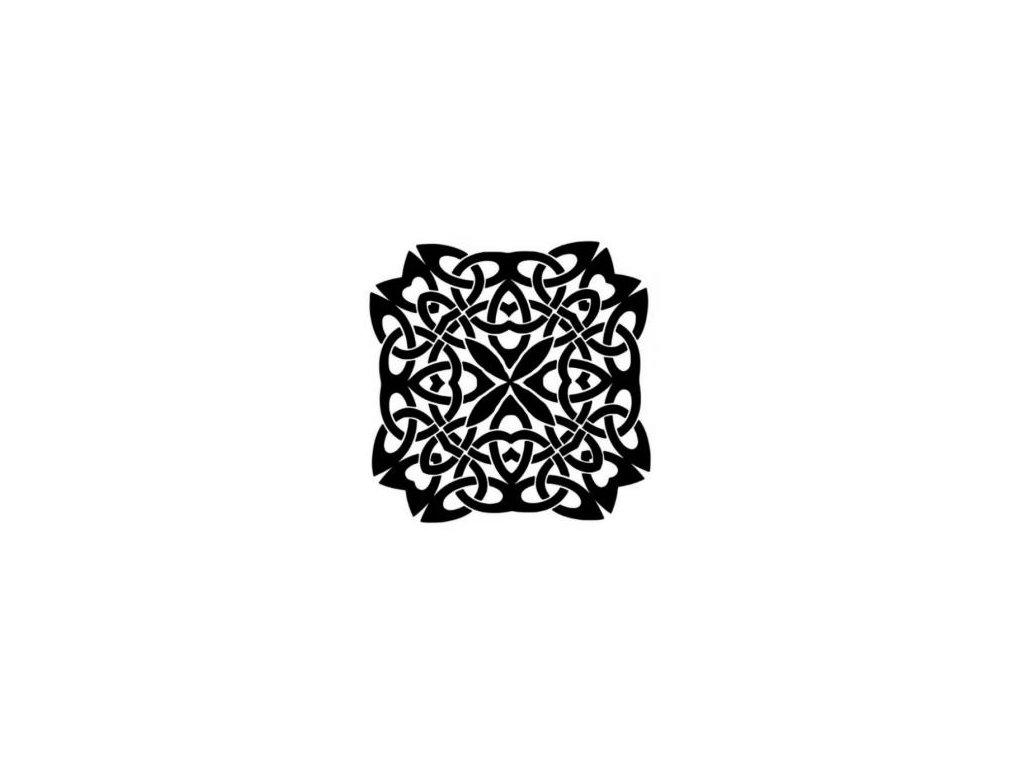 Mandala - plastová šablona 009