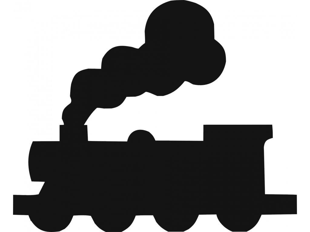 Lokomotiva - plastová šablona 298