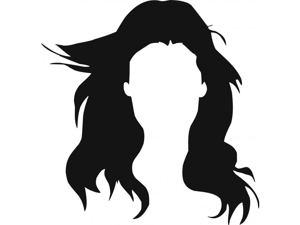 Vlasy  - plastová šablona 296