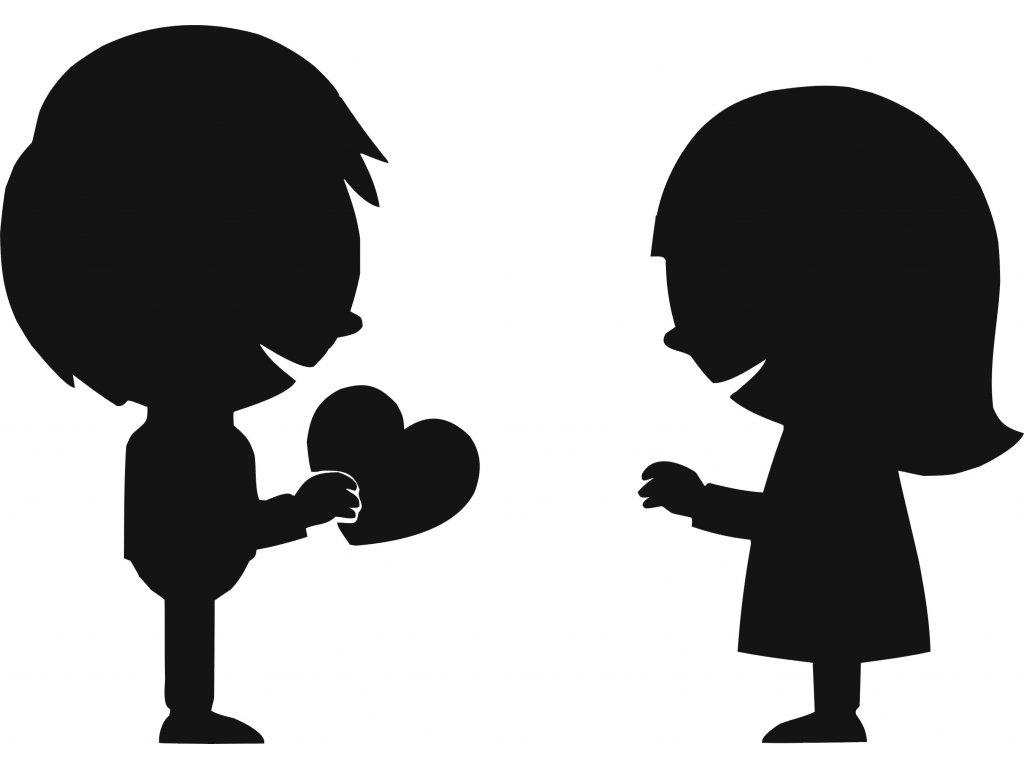 Chlapec a dívka  - plastová šablona 299