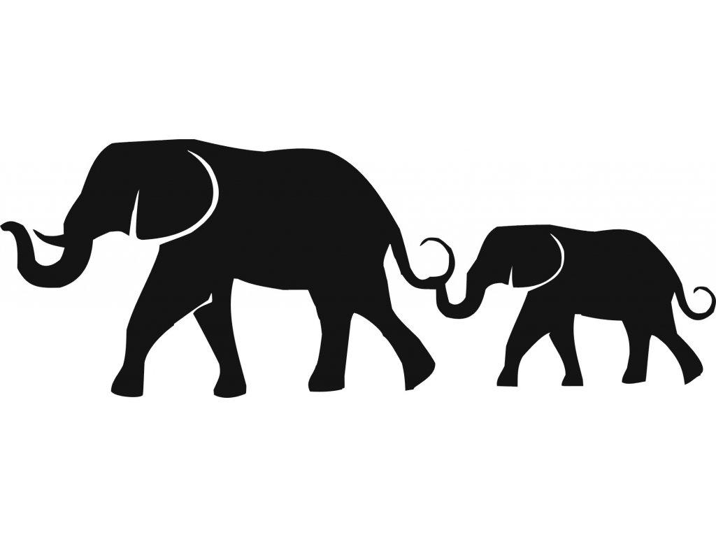Sloni - plastová šablona 314