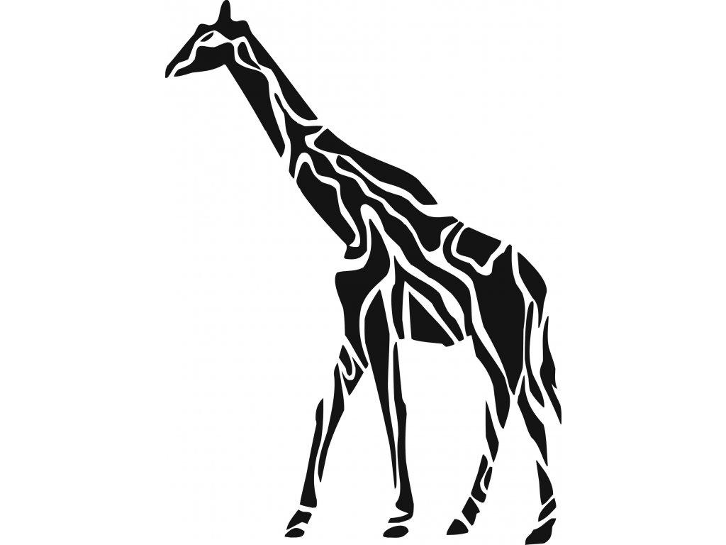 Žirafa - plastová šablona 294