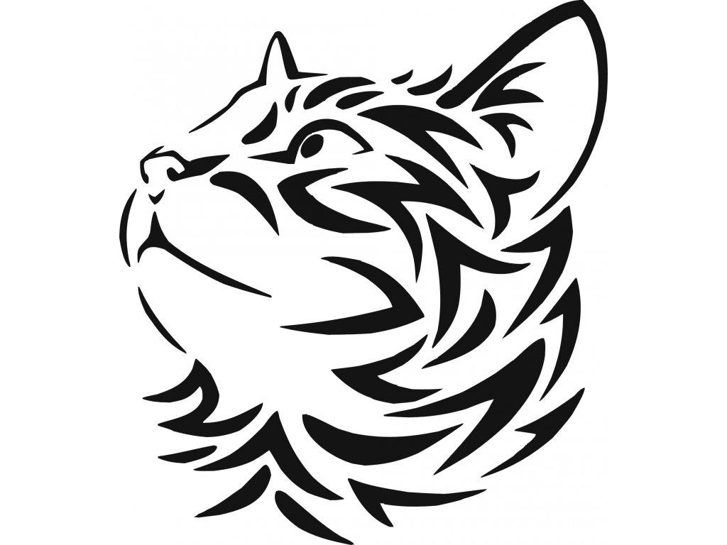 Kočka - plastová šablona 313