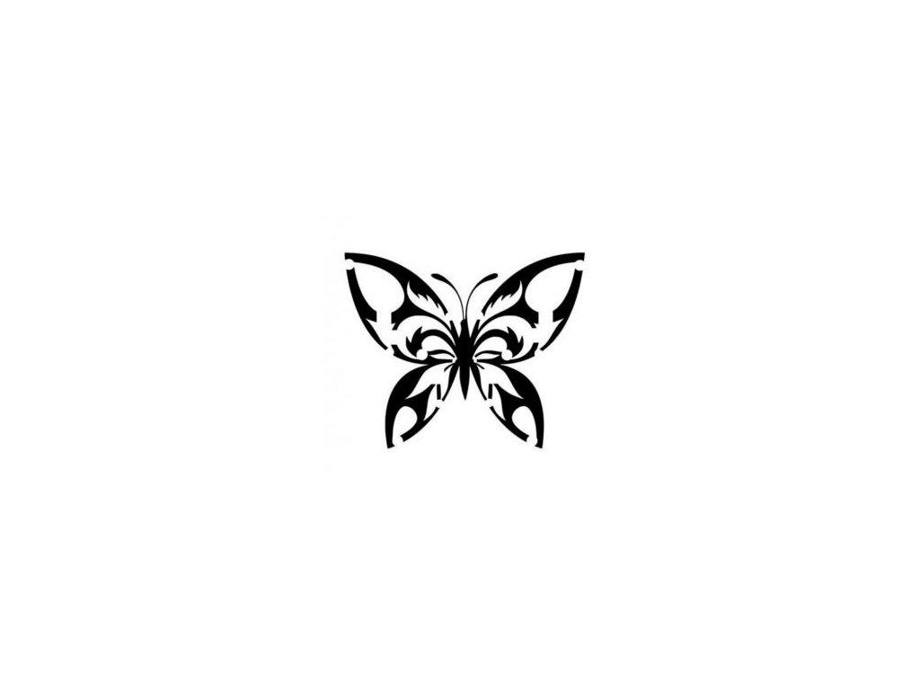 Motýl - plastová šablona 011