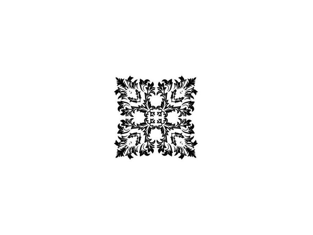 Mandala - plastová šablona 012