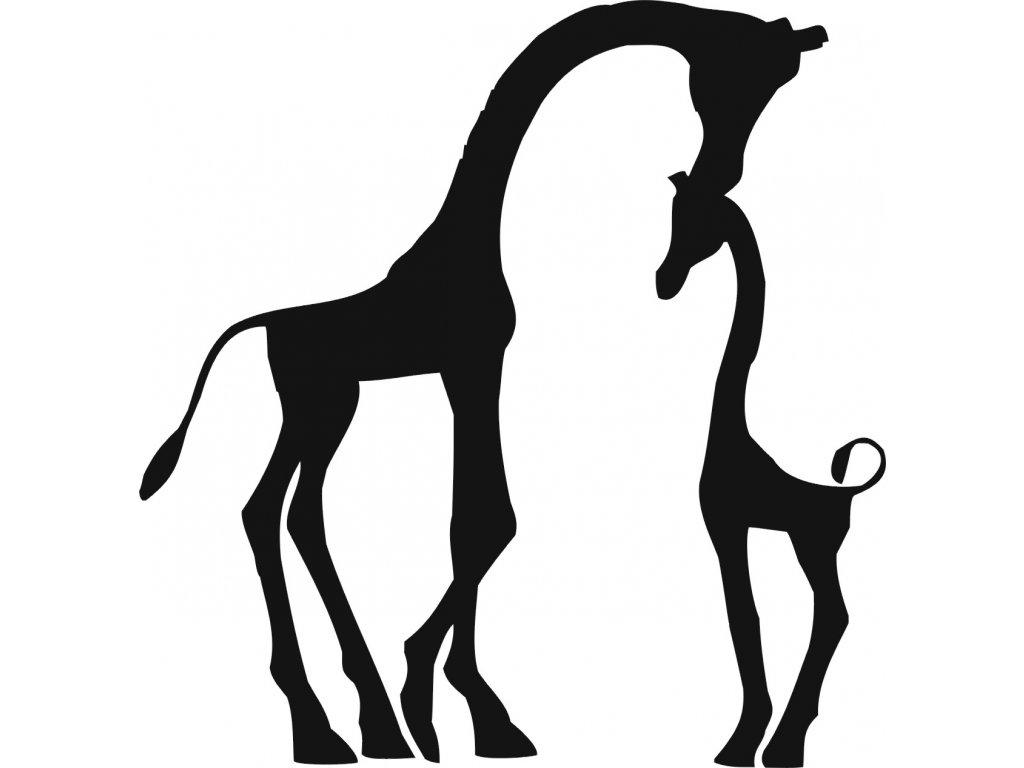 Žirafy - plastová šablona 265