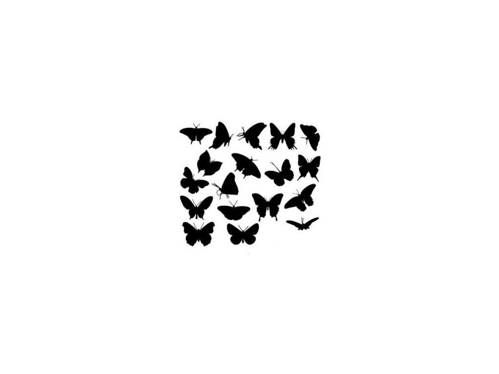 Motýlci - plastová šablona 015