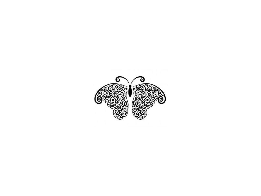 Motýl - plastová šablona 017