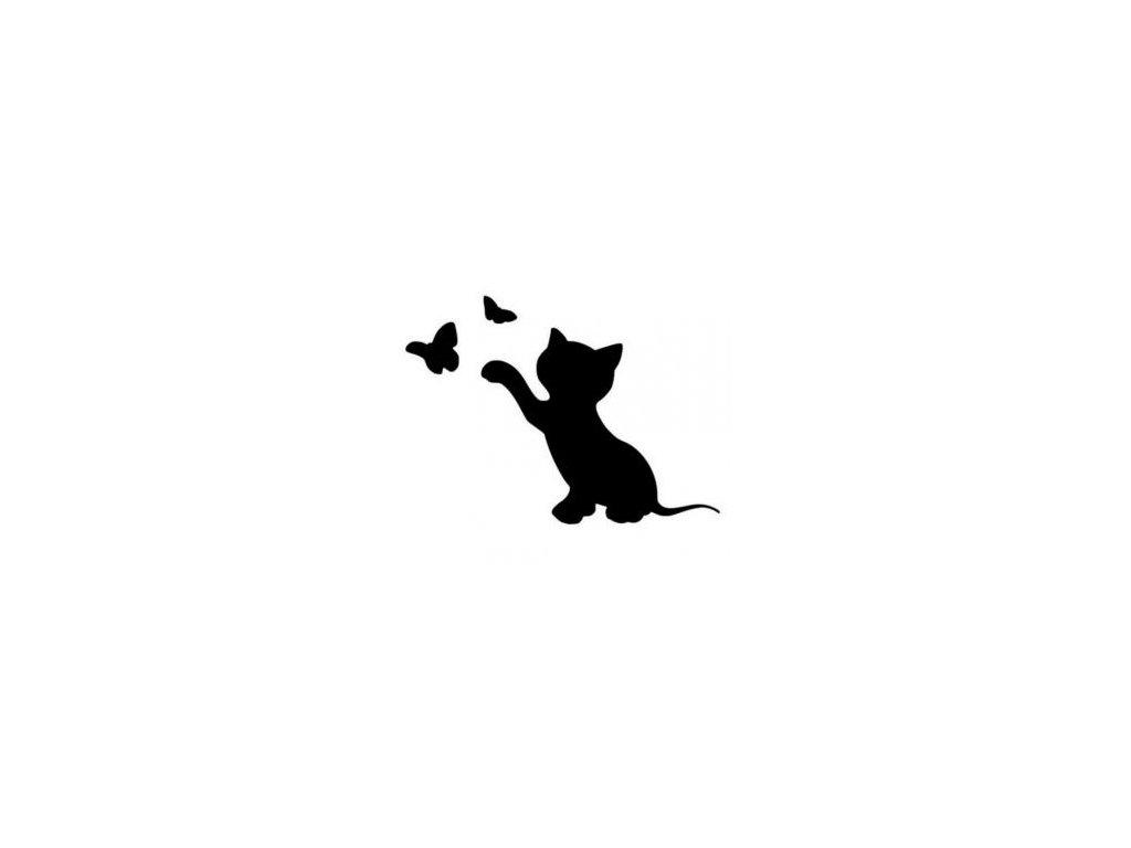 Kočka - plastová šablona 025