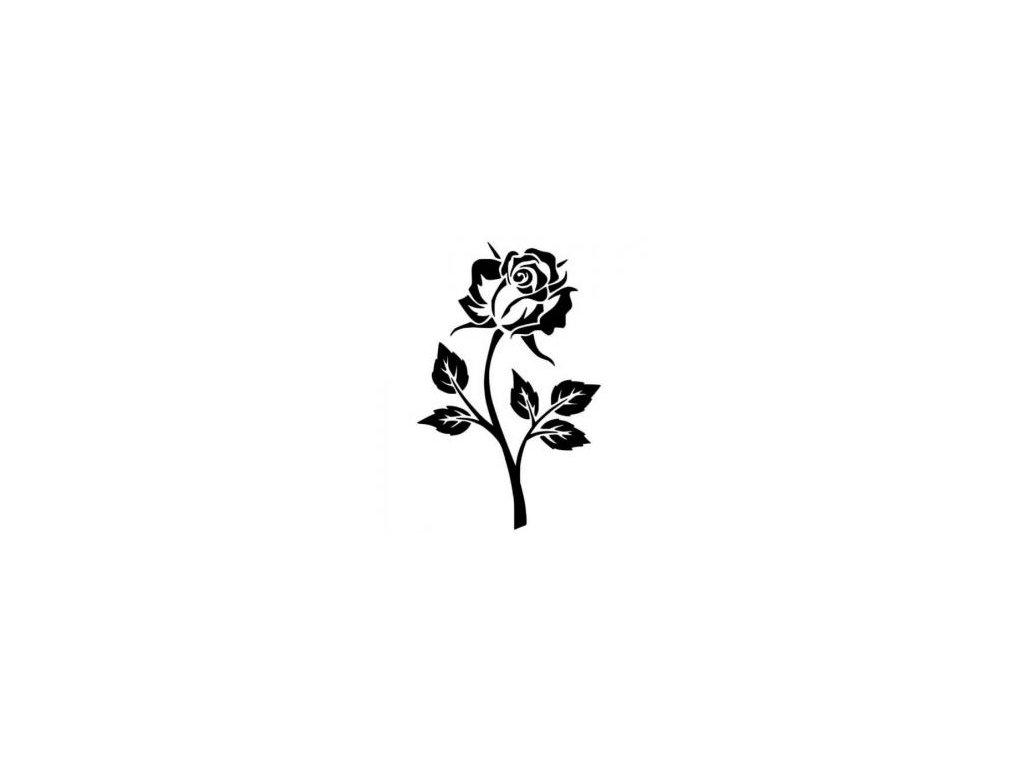 Růže - plastová šablona 027