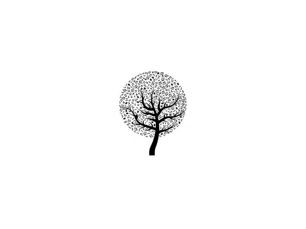 Strom noty - plastová šablona 029