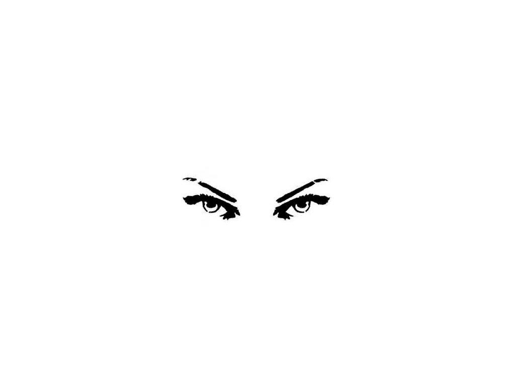 Oči - plastová šablona 031