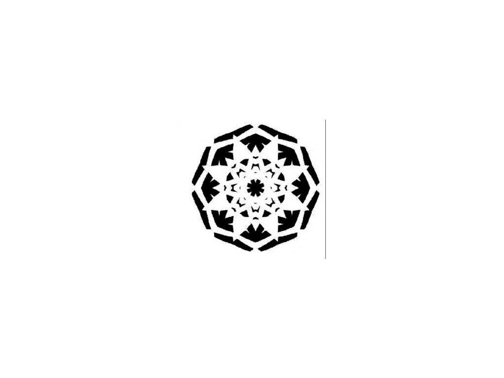 Mandala - plastová šablona 032
