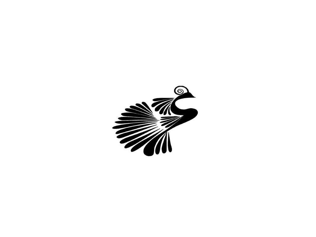 Pták ohnivák - plastová šablona 036