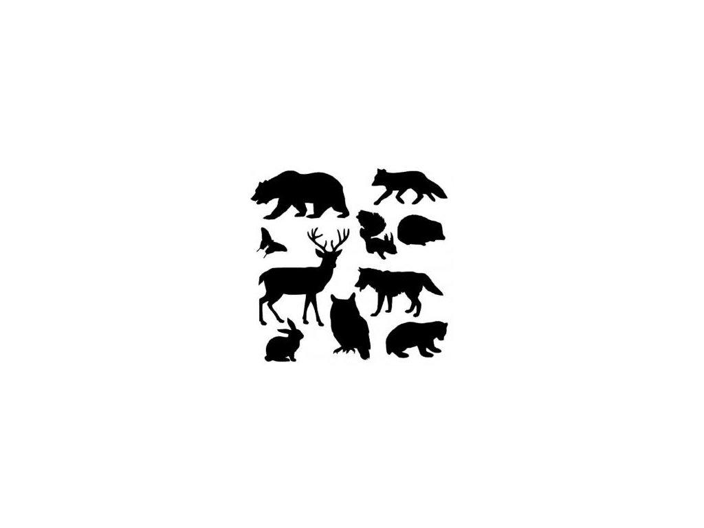 Zvířata - plastová šablona 038
