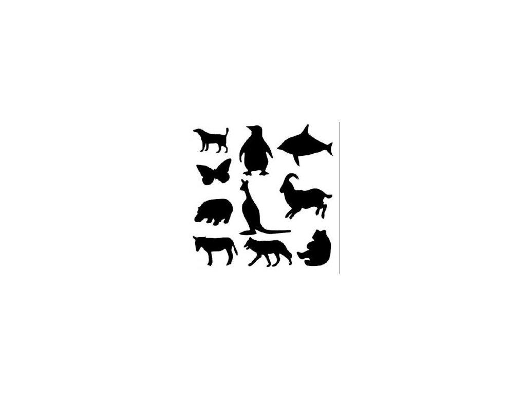 Zvířata - plastová šablona 039