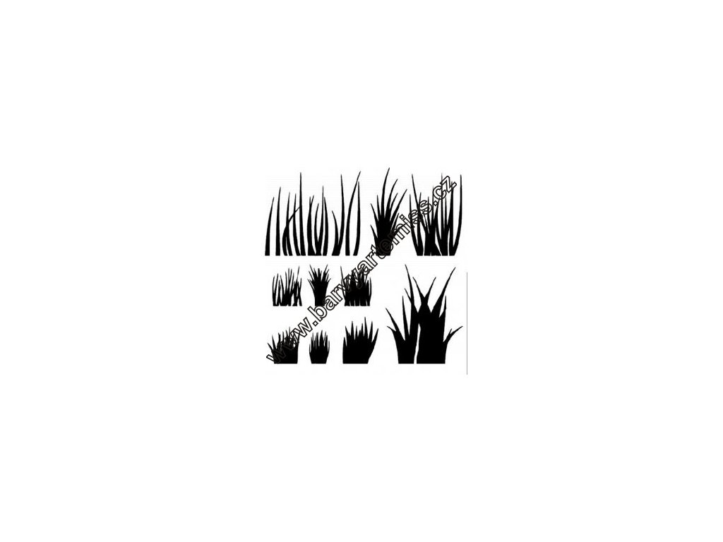 Tráva - plastová šablona 043