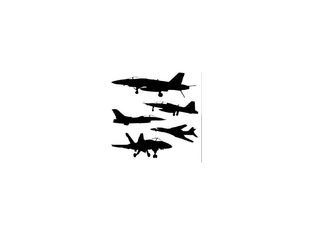 Letadla - plastová šablona 044