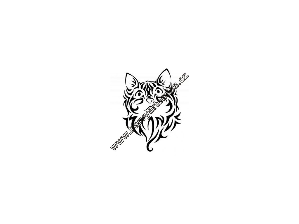 Kočka - plastová šablona 046