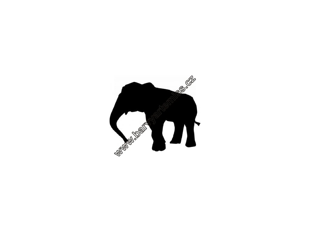 Slon - plastová šablona 062