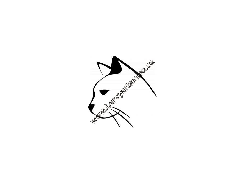 Hlava kočky - plastová šablona 063