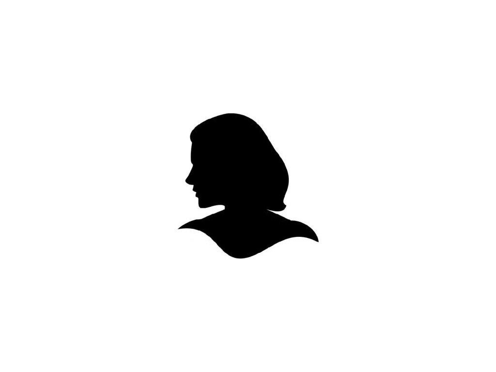 Hlava dáma - plastová šablona 070