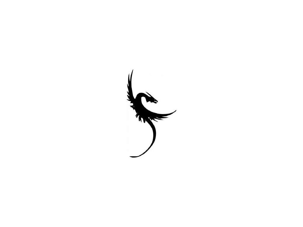 Letící drak - plastová šablona 071