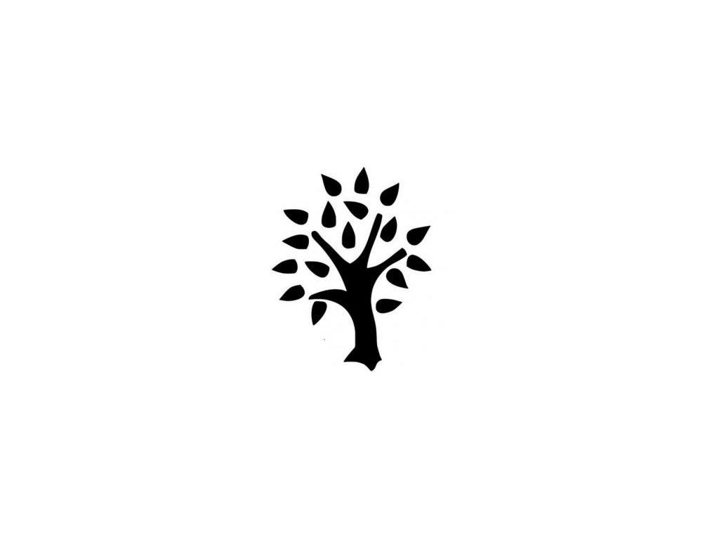 Strom listí - plastová šablona 075