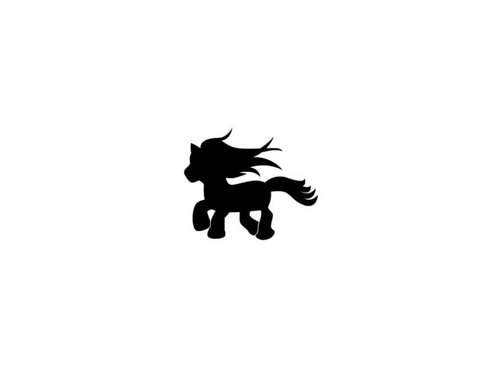 Ponny - plastová šablona 076