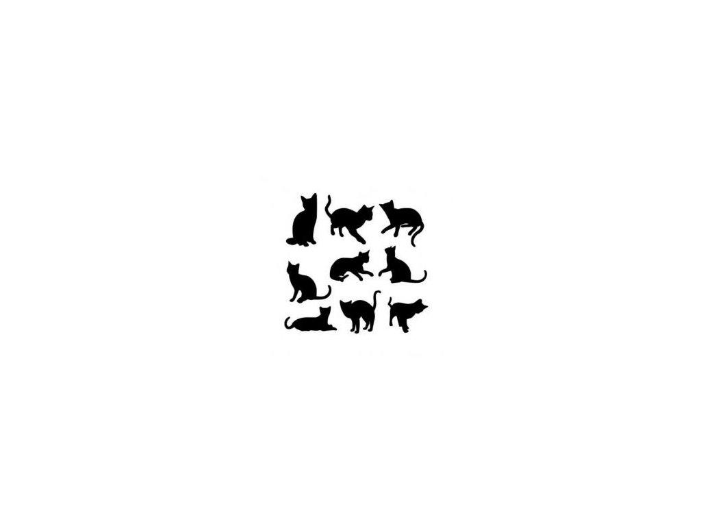 Kočičky - plastová šablona 088