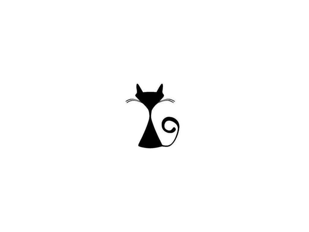 Kočka - plastová šablona 121